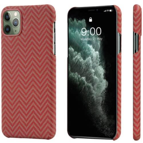 Husa telefon Pitaka MagEZ pentru Apple iPhone 11 Pro, Rosu