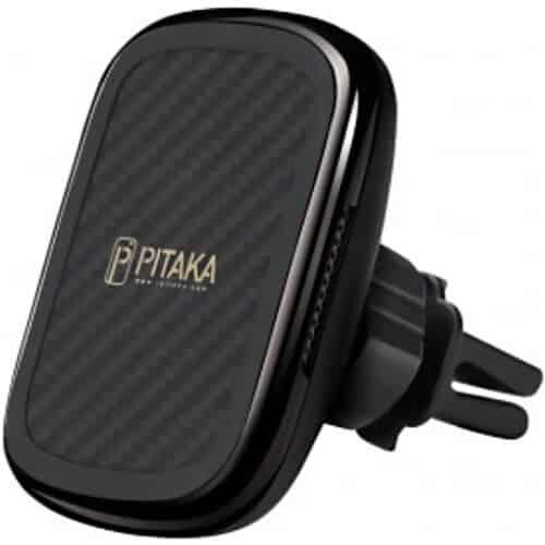 Incarcator Auto Wireless Pitaka MagEZ QI Car Vent, Fast Wireless, Negru