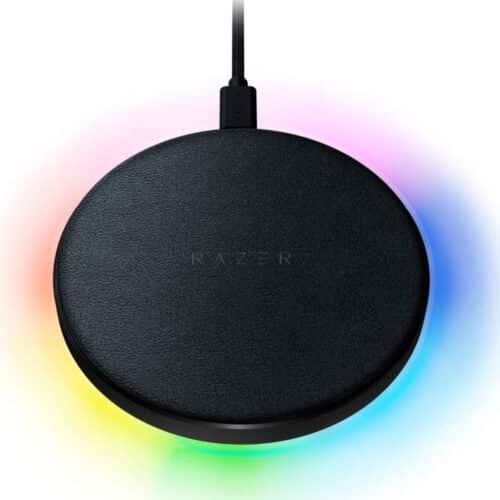 Incarcator Wireless Razer Charging Pad Chroma, QI, 1x USB Tip C, 10W, Black