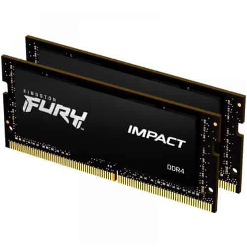 Kit Memorie RAM Laptop Kingston FURY Impact, 16GB (2 x 8GB) DDR4, 2666 MHz, CL15, 1.20V, SO-DIMM