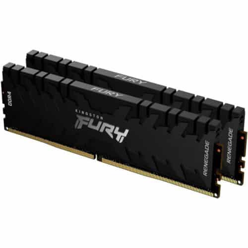 Kit Memorie RAM PC Kingston FURY Renegade, Black, 16GB (2 x 8GB) DDR4, 3200 MHz, CL16, 1.35V, DIMM