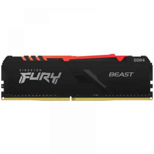 Memorie RAM PC Kingston FURY Beast RGB 16GB DDR4, 3200 MHz, PC4-25600, CL16, 1.35V, DIMM