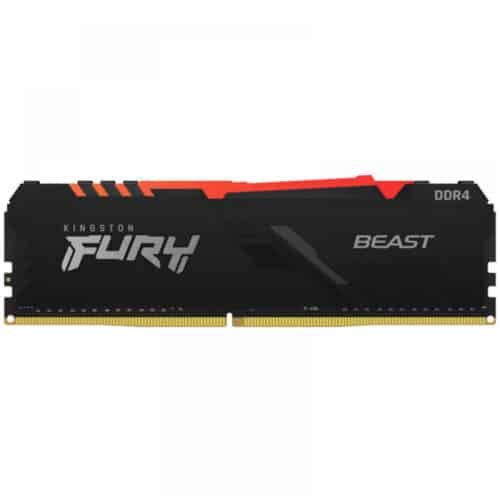Memorie RAM PC Kingston FURY Beast RGB 8GB DDR4, 2666 MHz, CL16, 1.20V, DIMM