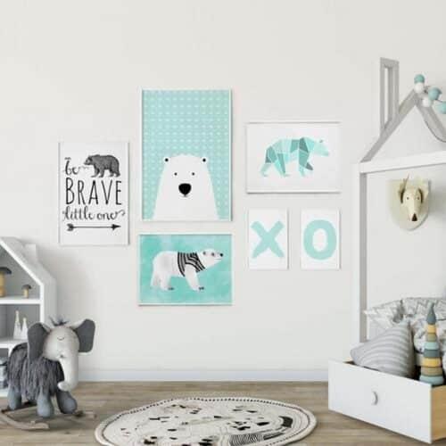 Set 6 tablouri decorative Urs