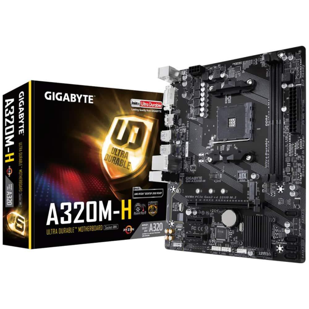 Placa de baza Gigabyte A320M-H, Socket AMD A320, 2x DDR4 DIMM, HDMI, DVI-D, Micro ATX - Resigilat