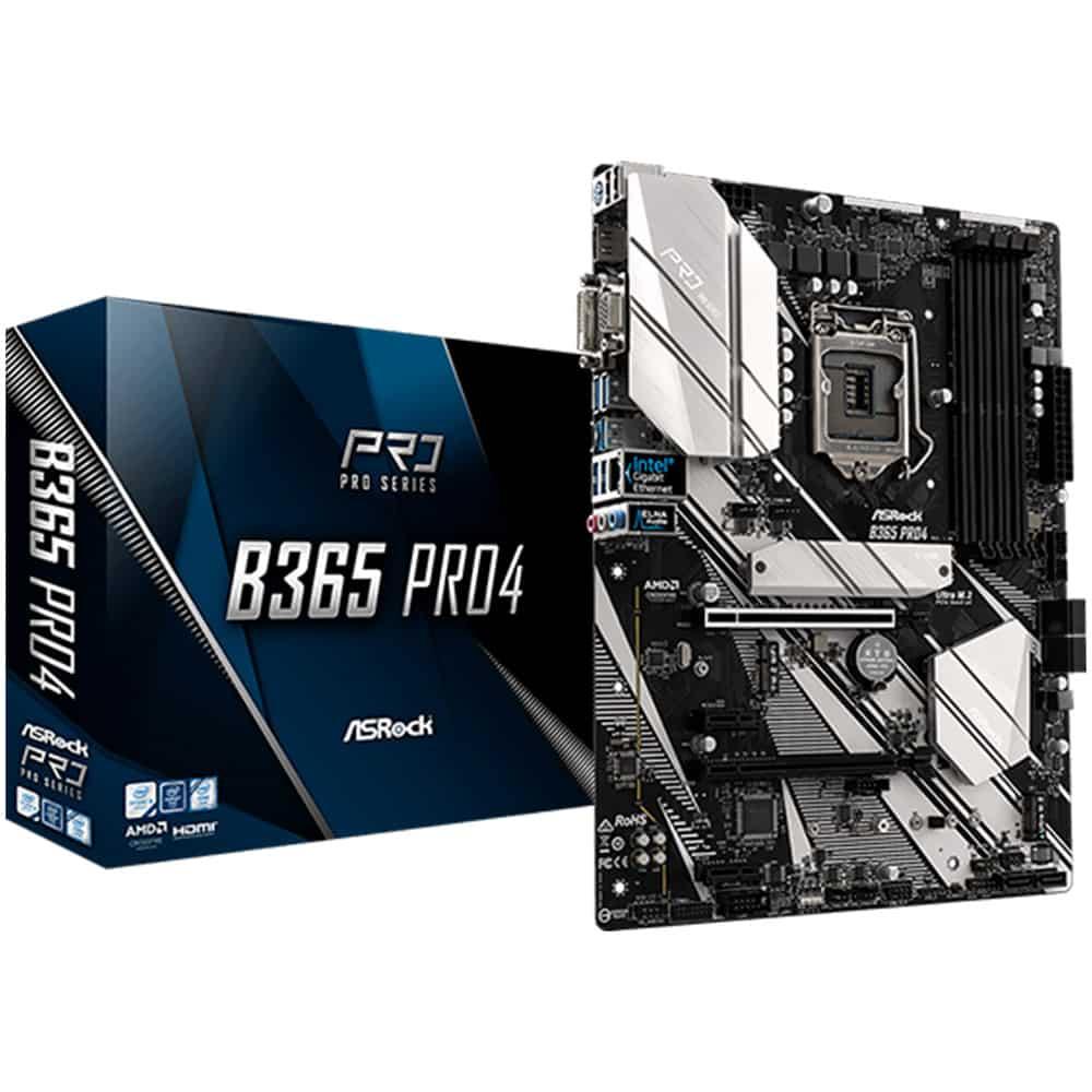 Placa de baza Intel AsRock B365 PRO4, Socket 1151, WiFi, 2 Ultra M.2, ATX- Resigilat
