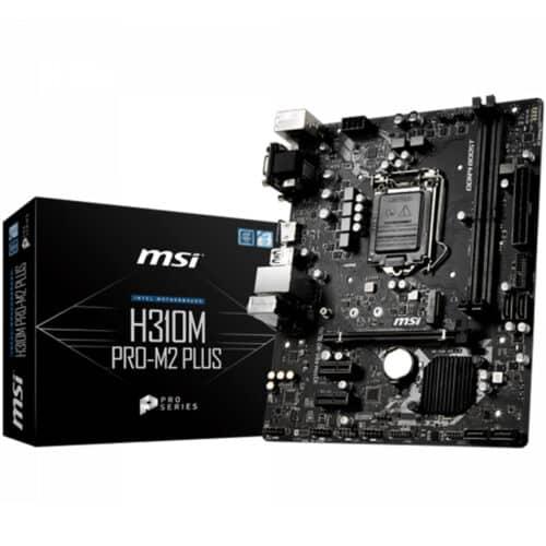 Placa de baza MSI H310M PRO-M2 PLUS, Socket LGA 1151, HDMI, DVI-D, VGA, 1 x M.2 slot - Resigilat