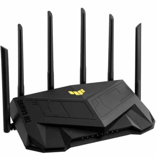 Router gaming wireless Asus TUF-AX5400, WiFi 6, MU-MIMO, port gaming dedicat, 6 antene Wi-Fi