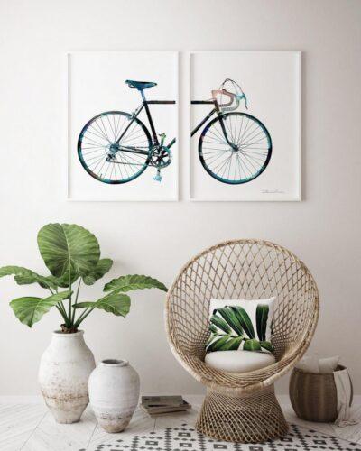 Set 2 tablouri decorative Bicicleta