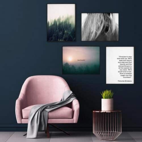 Set 4 tablouri decorative Brazi