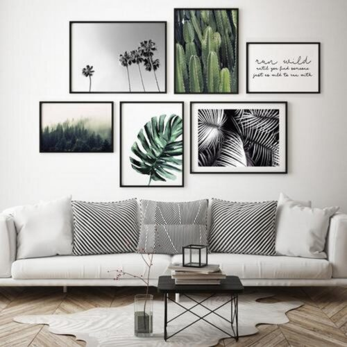 Set 6 tablouri decorative Leafs