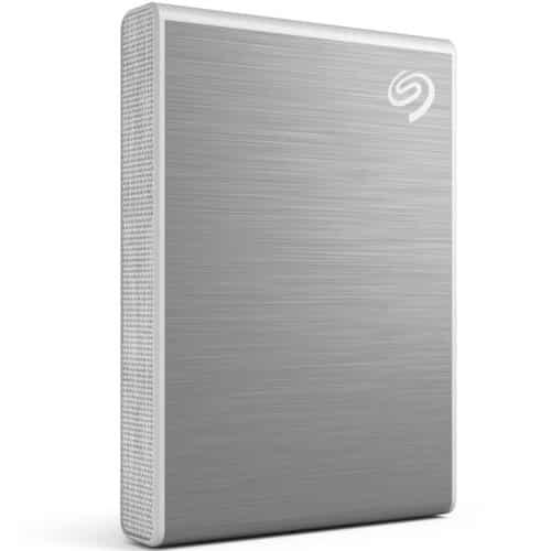 SSD Extern Seagate One Touch, 500GB, USB 3.2 Gen 2 Type-C, Argintiu