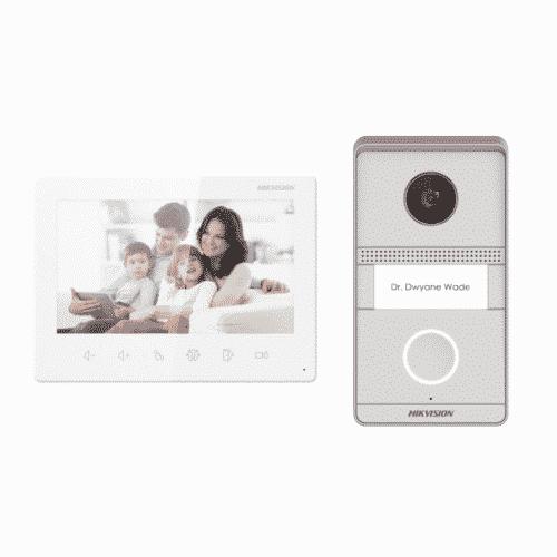Kit videointerfon analog Hikvision DS-KIS101-P/Flush
