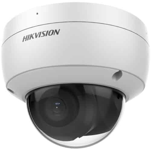 Camera supraveghere Hikvision IP dome DS-2CD2146G2-I2C, 4MP, low-light, Acusens, lentila: 2.8mm, IR: 30 metri, alimentare: 12 VDC si PoE, Alb
