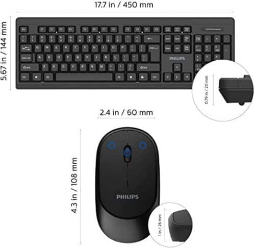 Kit tastatura si mouse Philips SPT6264