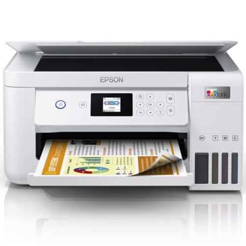 Multifunctional inkjet color Epson EcoTank CISS L4266, A4, borderless, 33ppm, duplex automat, USB, WiFi, Alb, C11CJ63414