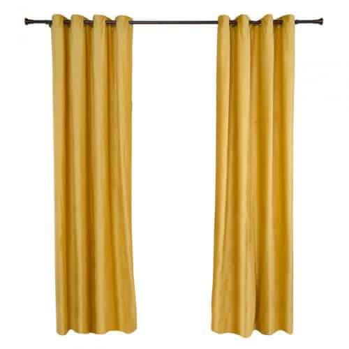 Set 2 draperii catifea 140x270 cm - Galbene