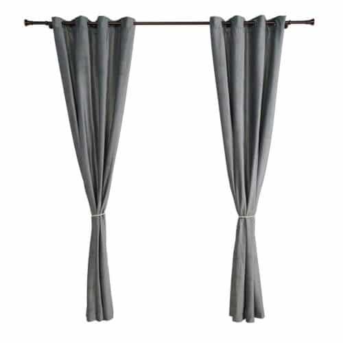 Set 2 draperii catifea 140x270 cm - Gri