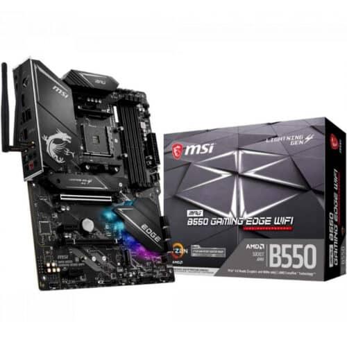 Placa de baza MSI MPG B550 GAM EDGEW, WiFi 6, AM4 socket, 4xDDR4, DP, HDMI, M.2 Gen4 - Resigilat