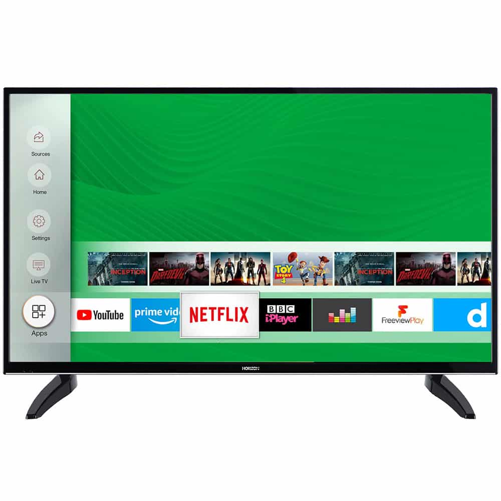 Televizor LED Smart Horizon, 108 cm, 43HL7330F, Full HD, Clasa A++, 1 x CI+, 2 x HDMI, Black - Resigilat