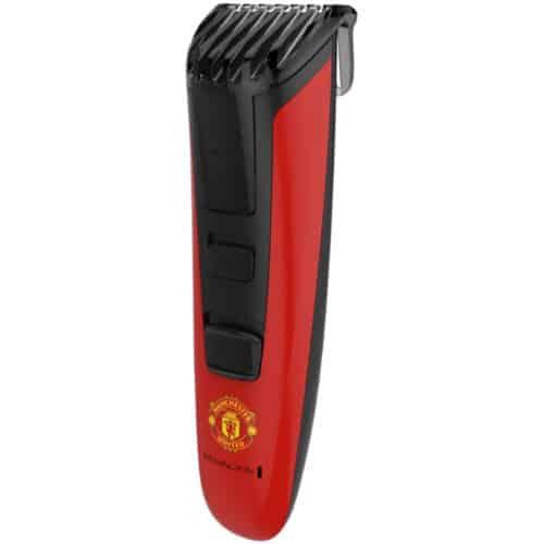 Aparat de tuns pentru barba Remington MB4128 Manchester United Beard Boss Styler, Lame CaptureTrim, Rosu/ Negru