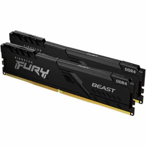 Memorie Kingston FURY Beast, 64GB, DDR4, 2666MHz, CL16, Dual Channel Kit