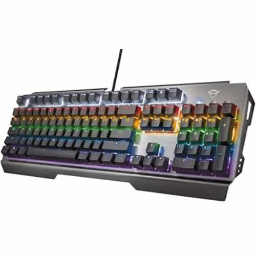 Tastatura mecanica Trust GXT 877 Scarr TR-23385, Iluminare taste, cablu 180cm, USB, Anti-Ghosting