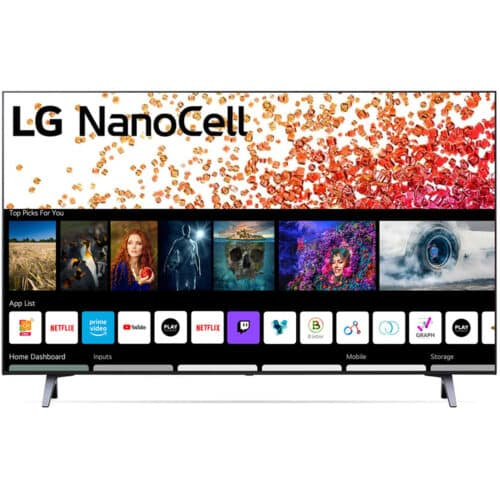Televizor LG 43NANO753PR, 108 cm, Smart, 4K, Ultra HD, LED, 3 x HDMI, HDR 10, Dolby Vision, Clasa G