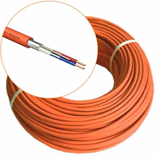 Cablu alarmare incendiu JE-H(ST)H E90, 1X2X0.8, rola 100 m, Portocaliu