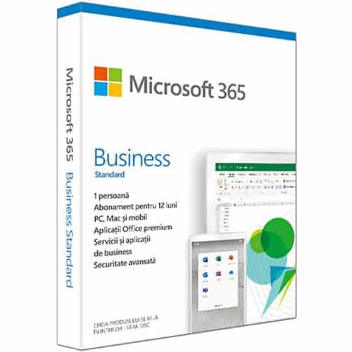Licenta Cloud Retail Microsoft 365 Business Standard 2019, Engleza, Subscriptie 1 an, 1 PC/Mac