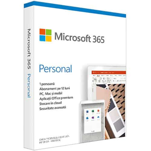 Licenta Cloud Retail Microsoft 365 Personal, Engleza, Subscriptie 1 an, 1 PC/Mac