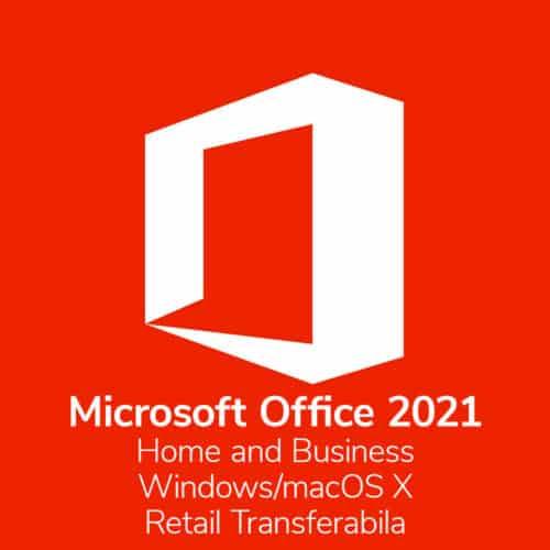 Licenta electronica Microsoft Office Home and Business 2021, pentru Windows/Mac, Retail