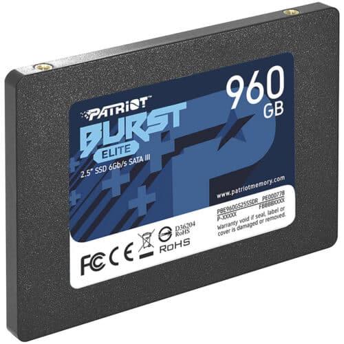 SSD Patriot Burst Elite PBE960GS25SSDR, 960GB, 2.5 inch, SATA III